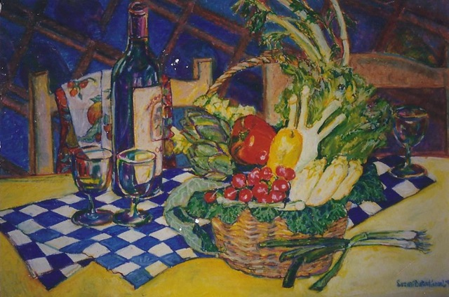 Suzan Bates Kessel — French Basket of Veggies